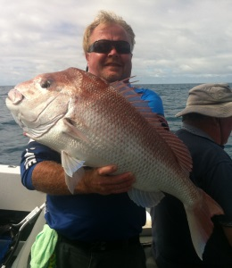 Mick Jewry with a nice Arno Bay Snapper