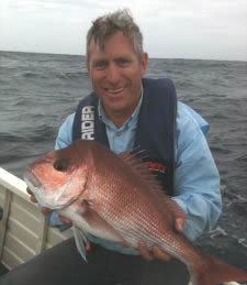 Glen Malam with a great South Coast Snapper