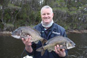 Daniel McNeice with two cracker Black Bream