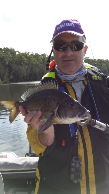 Chris Head with his first Black Bream – St Georges Basin